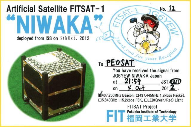 FitSAT-1 QSL