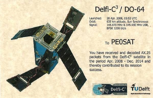 Delfi-C3-QSL