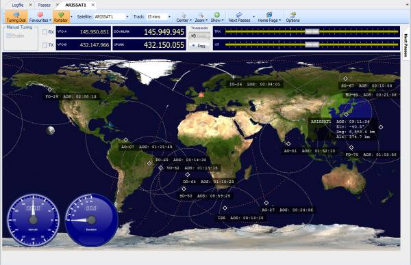 tracking amateur radio pe sat