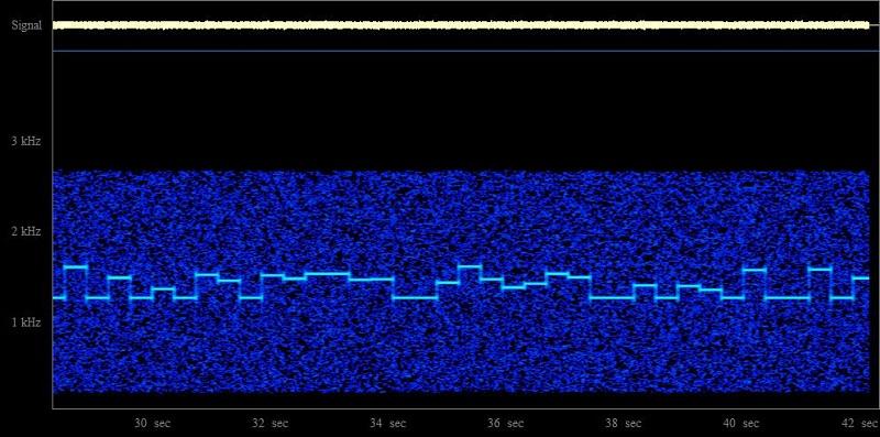 Spectogram JT65B Example