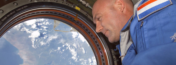 Andre Kuipers in space