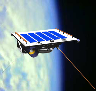 Max Valier Satellite in space