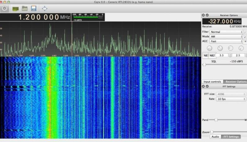 GQRX Main Screen