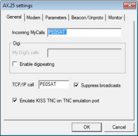 MixW Mode Packet AX25 General