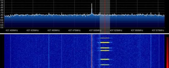 SDR Spectrum ESTCube-1