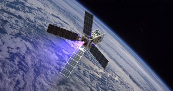 Cubesat Ambipolar Thruster Satellite