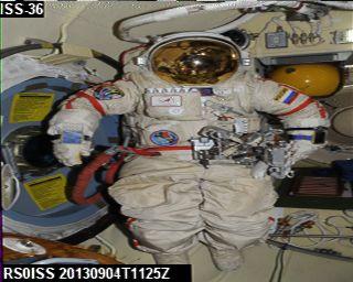 ISS SSTV 04-09-2013 11:25UTC