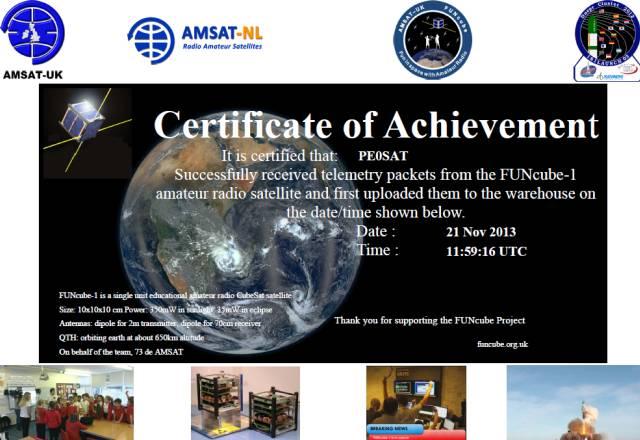 AO-73 Certificate