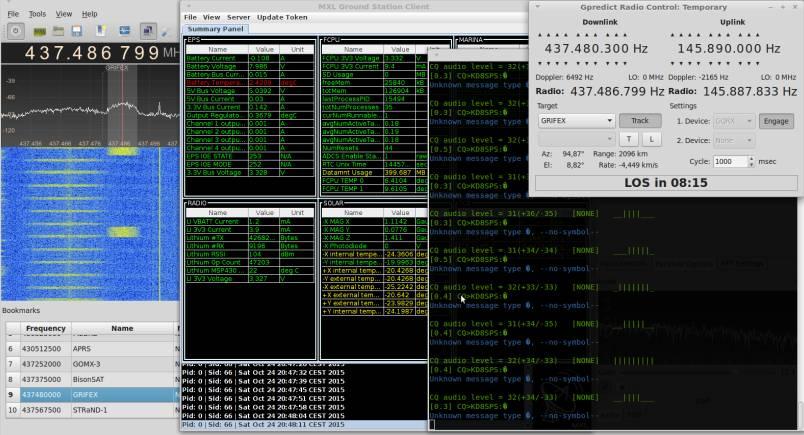 PE0SAT Linux telemetry receiver setup. Image credit: PE0SAT.