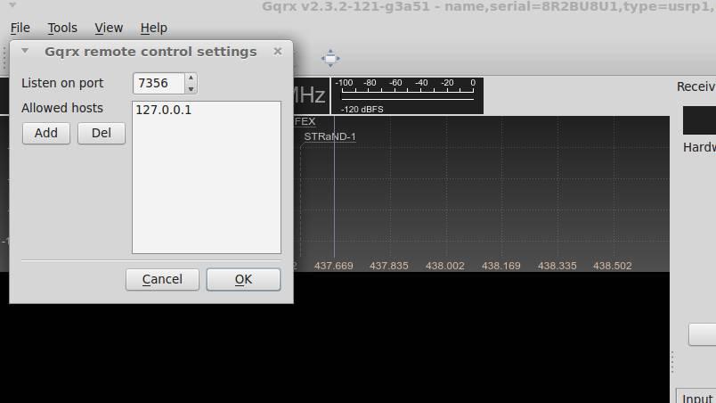 gqrx-remote-controle